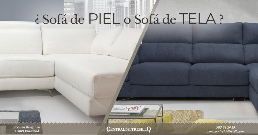 Sofa de piel o sofa de tela