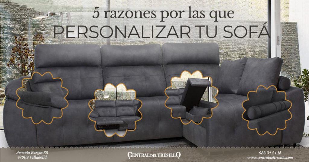 razones personalizar sofa
