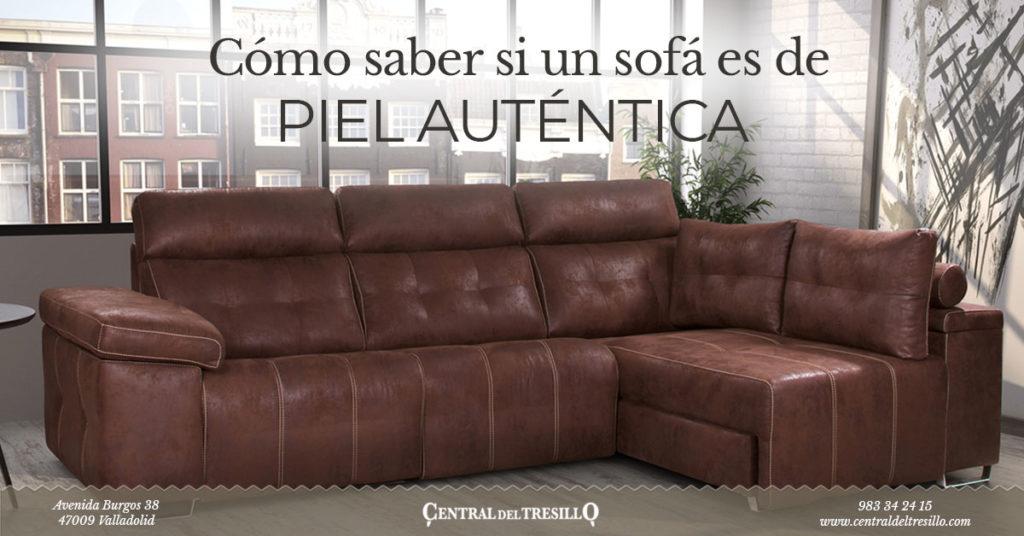 como saber si un sofá es piel natural