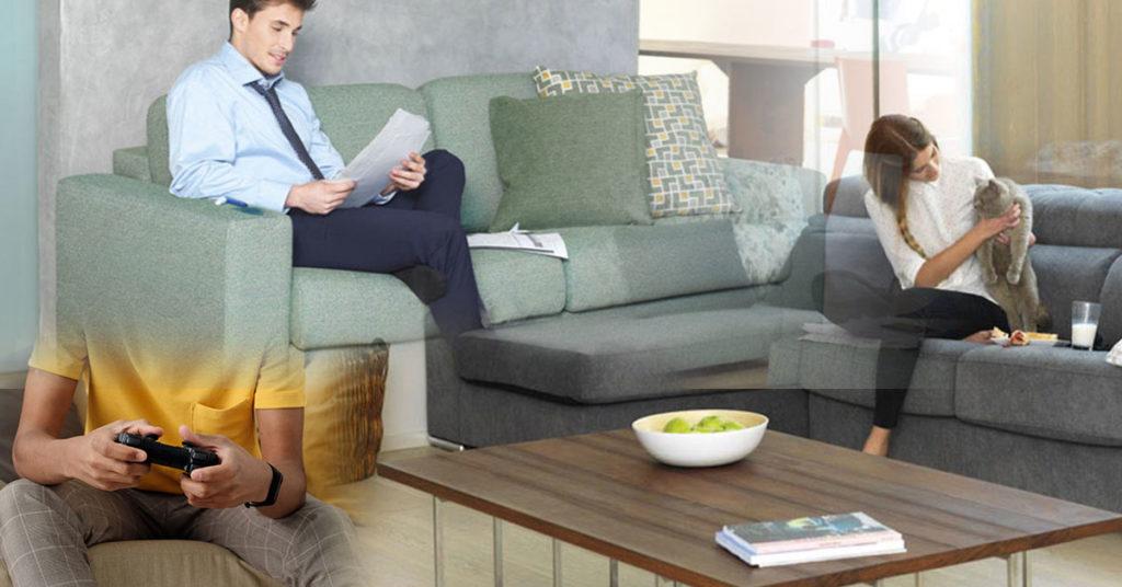 usos actividades sofa hogar