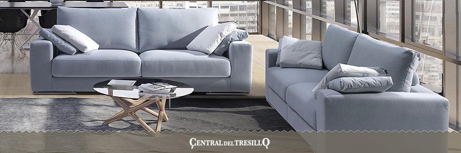 sofá 3+2 piel algodón