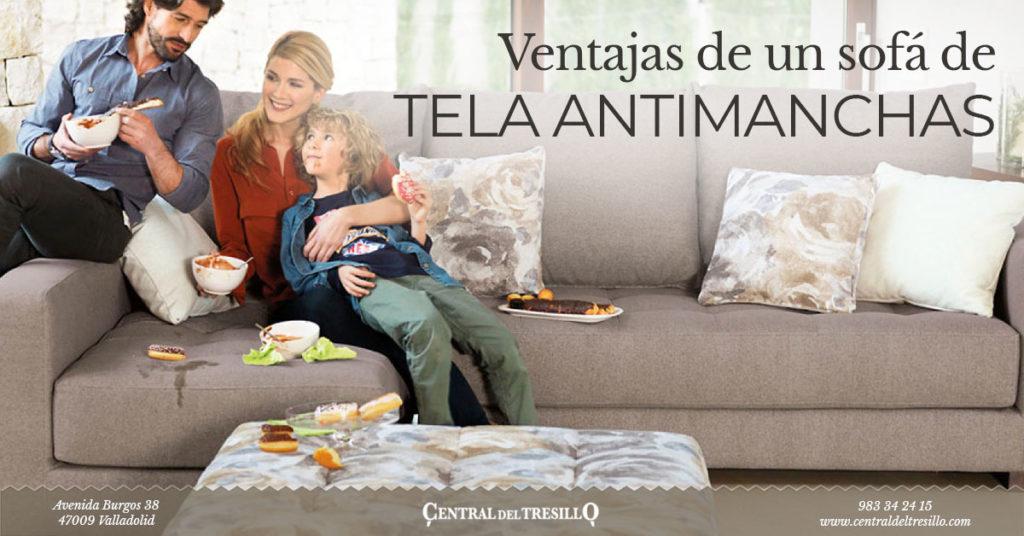ventajas del sofá de tela antimanchas